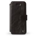 【zenus】(iPhone5S/5ケース) エスティメ ダイアリー ブラックチョコレートZ1554i5[天然牛革/カードポケット、ストラップホール有り]