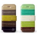 【zenus】(iPhone5S/5ケース) プレステージ イール レザー ダイアリー [うなぎ革/カードポケット、ストラップホール有り]